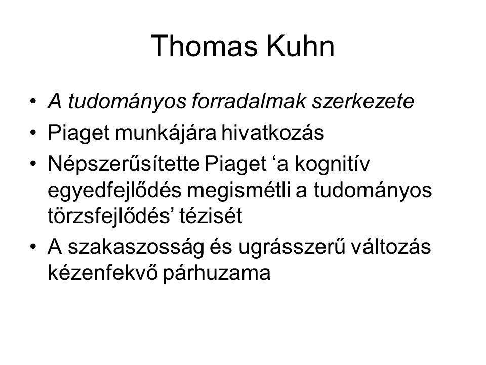 Thomas Kuhn A tudományos forradalmak szerkezete