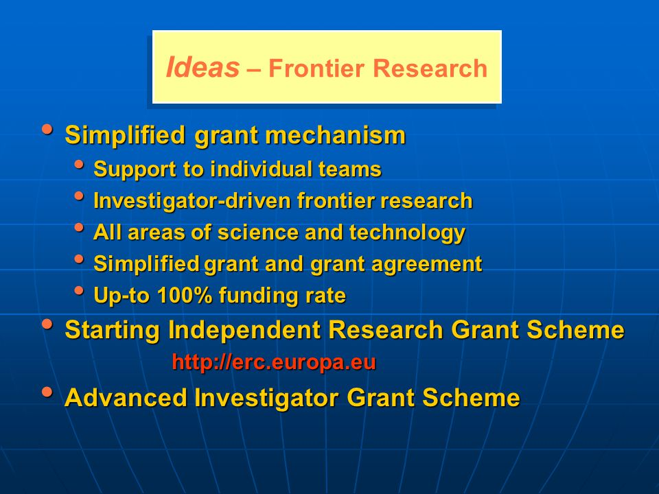 Ideas – Frontier Research