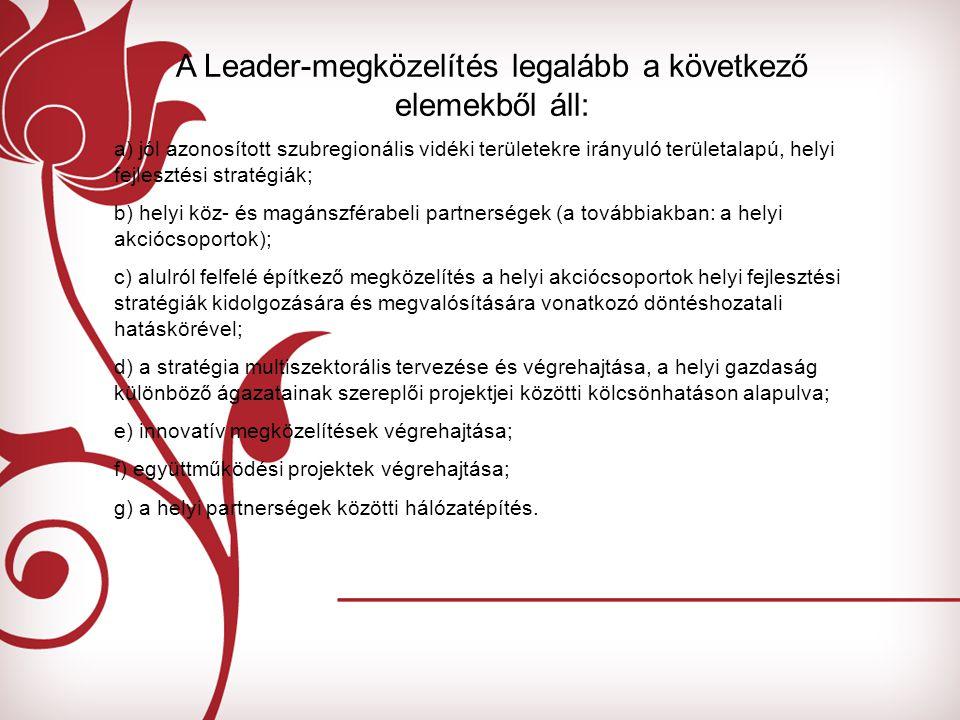 A Leader-megközelítés legalább a következő elemekből áll: