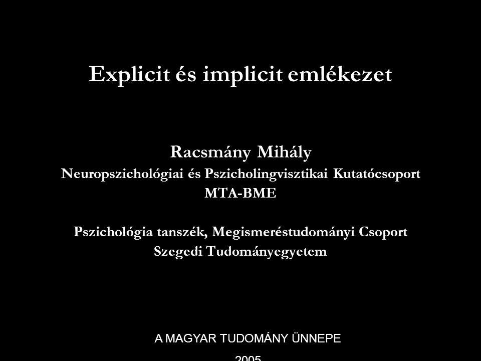 Explicit és implicit emlékezet