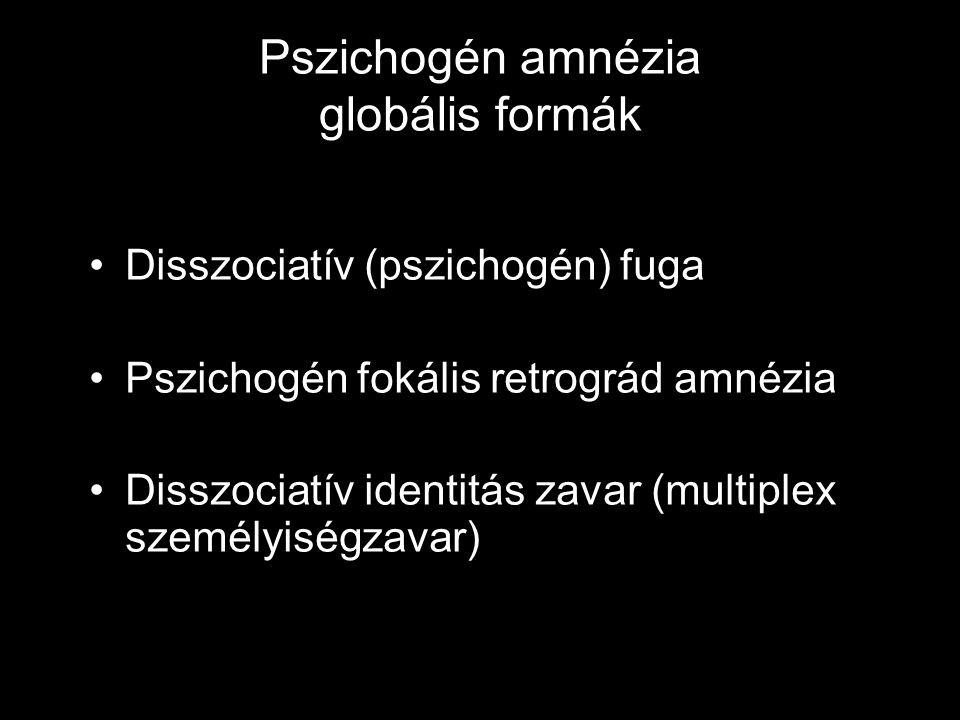 Pszichogén amnézia globális formák