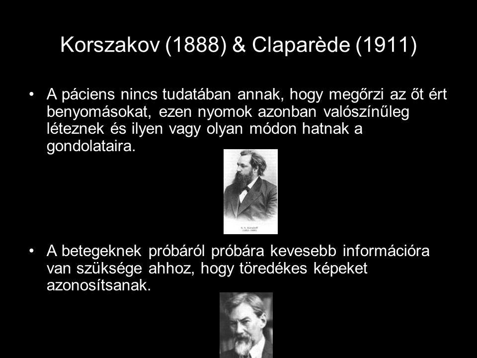 Korszakov (1888) & Claparède (1911)