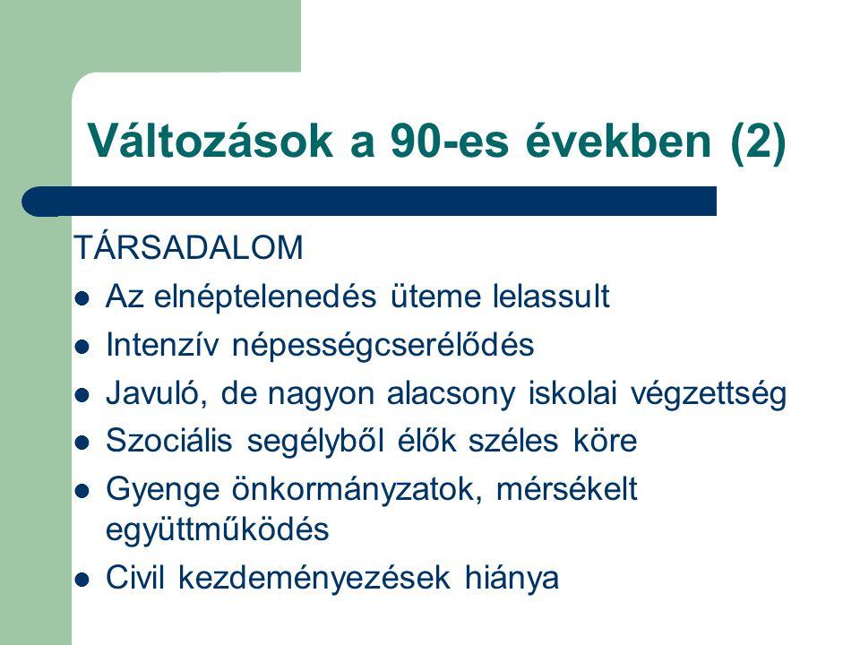 Változások a 90-es években (2)
