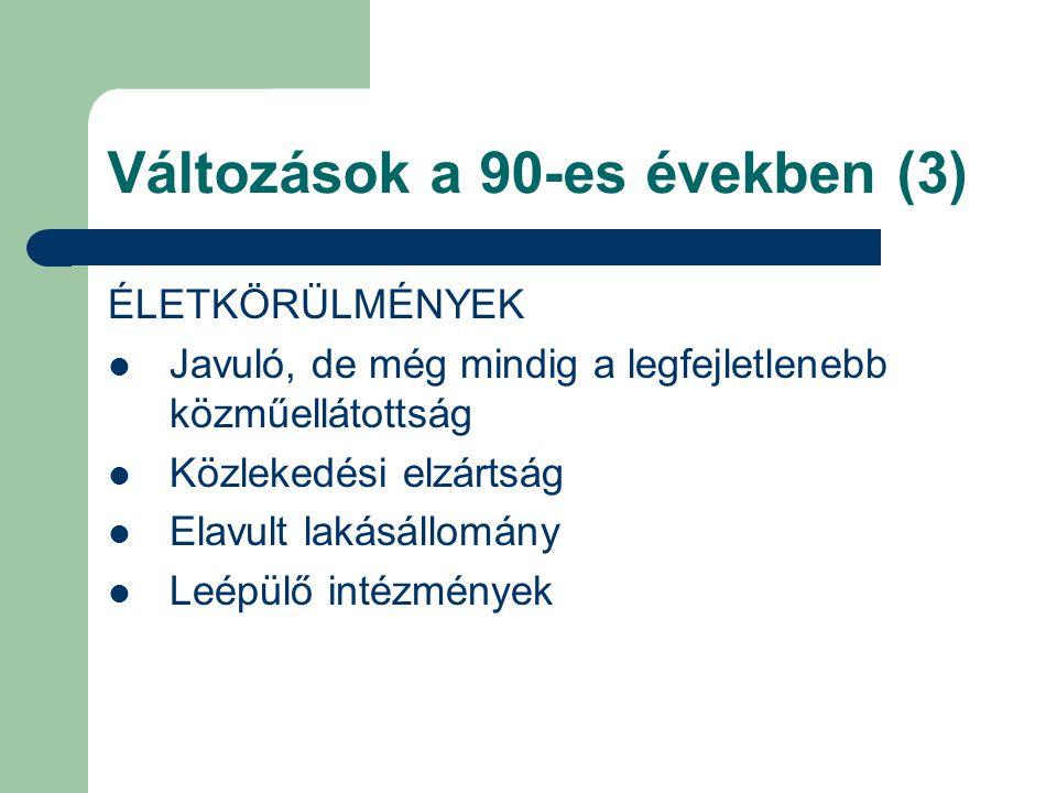 Változások a 90-es években (3)