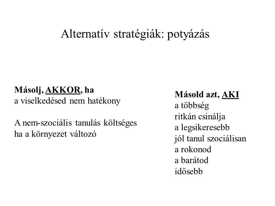 Alternatív stratégiák: potyázás