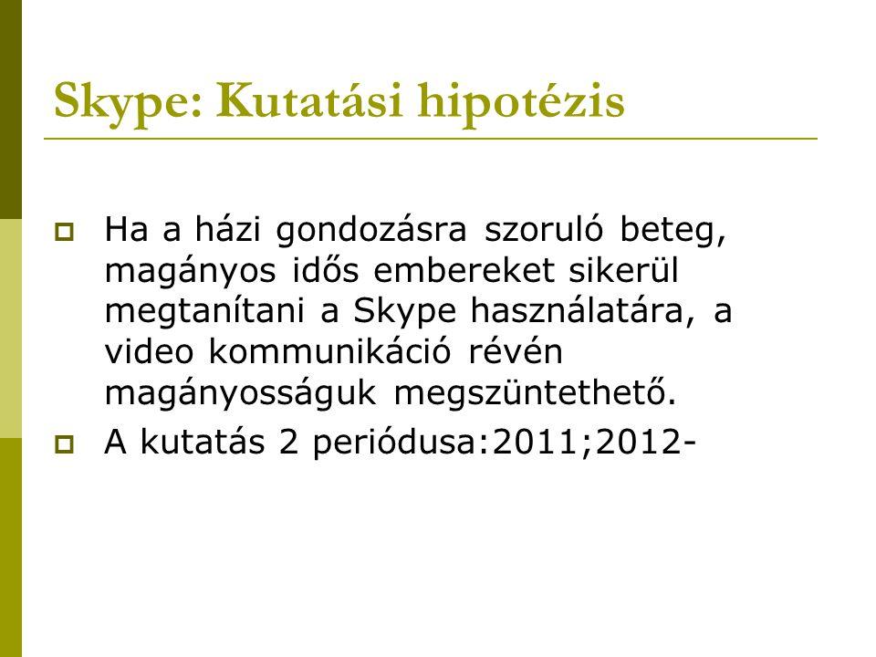 Skype: Kutatási hipotézis