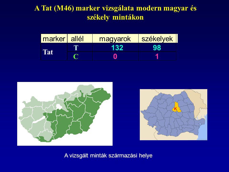 A Tat (M46) marker vizsgálata modern magyar és székely mintákon