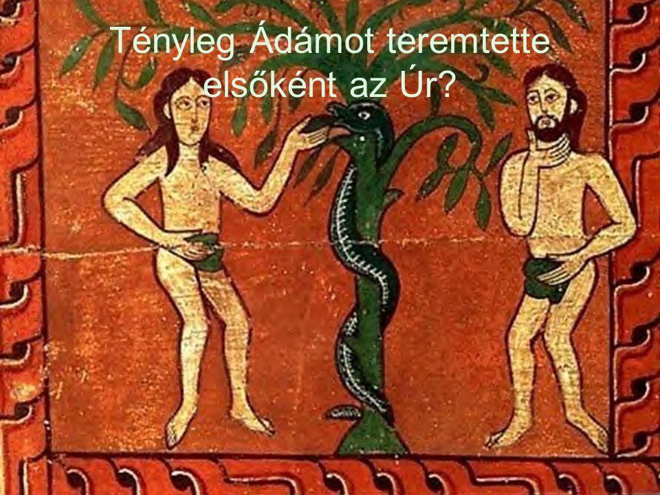 Tényleg Ádámot teremtette elsőként az Úr