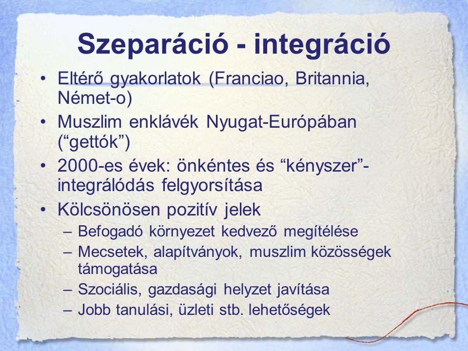 Szeparáció - integráció