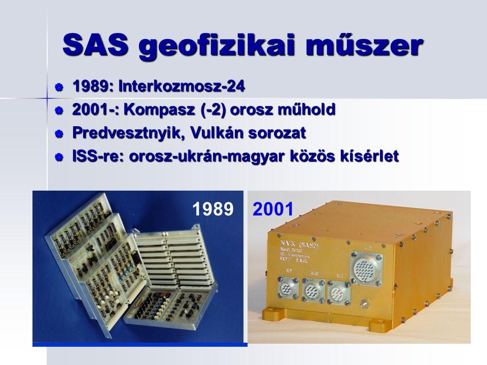 SAS geofizikai műszer 1989 2001 1989: Interkozmosz-24