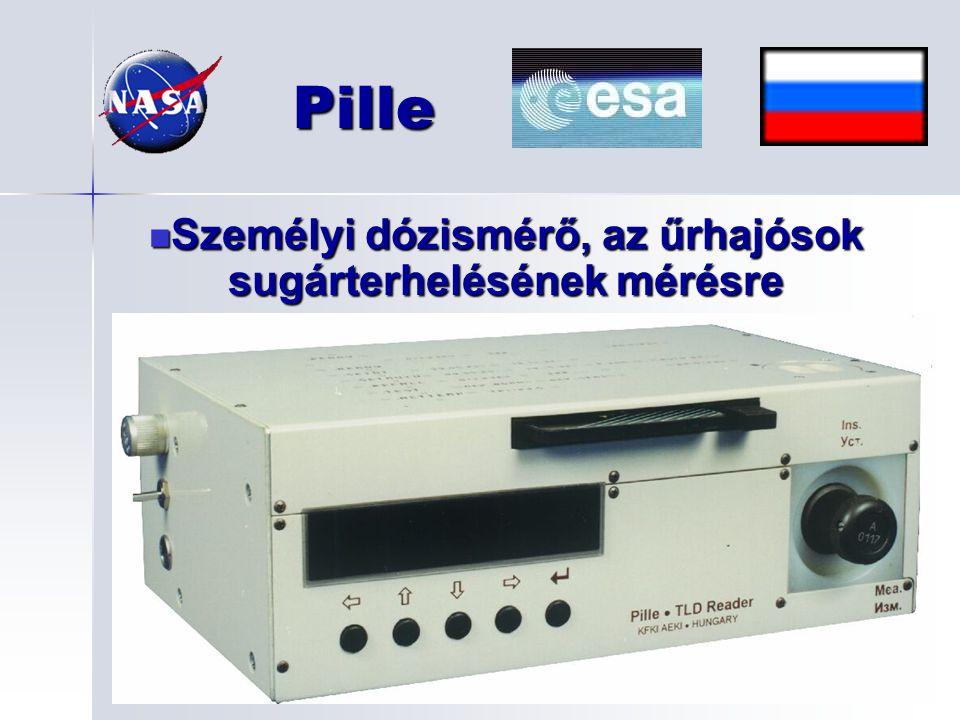 Személyi dózismérő, az űrhajósok sugárterhelésének mérésre