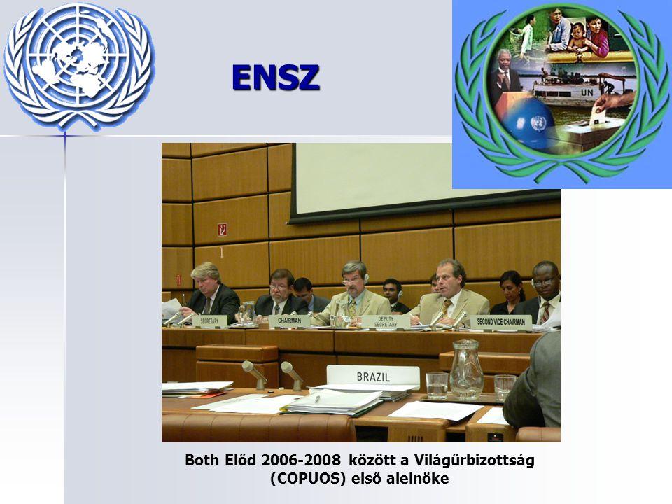 Both Előd 2006-2008 között a Világűrbizottság (COPUOS) első alelnöke