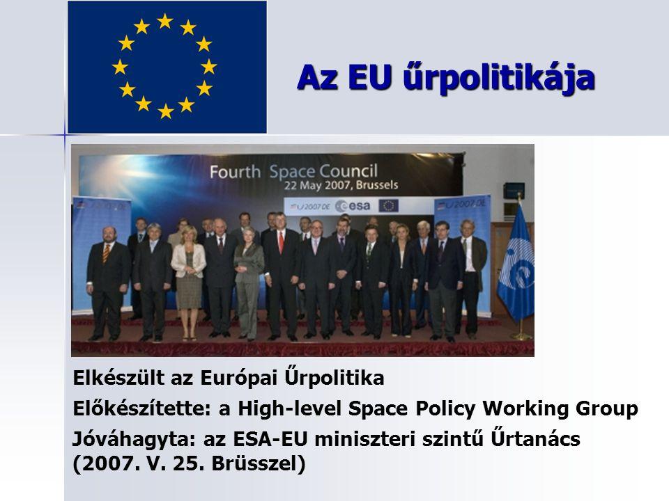 Az EU űrpolitikája Elkészült az Európai Űrpolitika