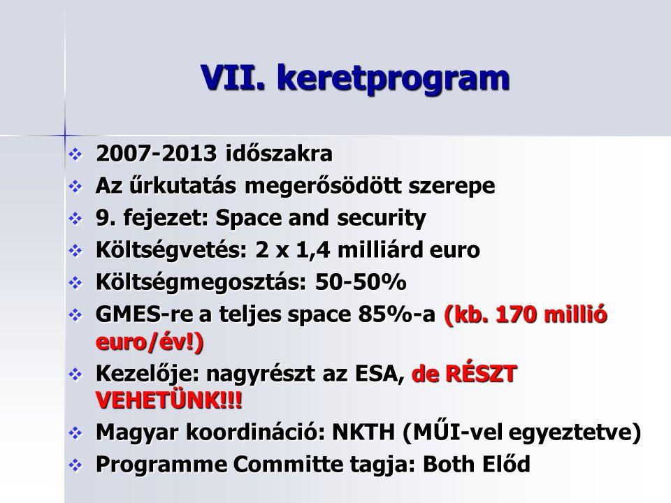 VII. keretprogram 2007-2013 időszakra