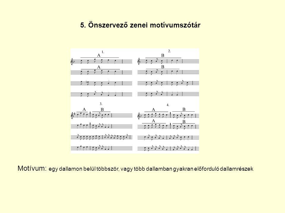 5. Önszervező zenei motívumszótár
