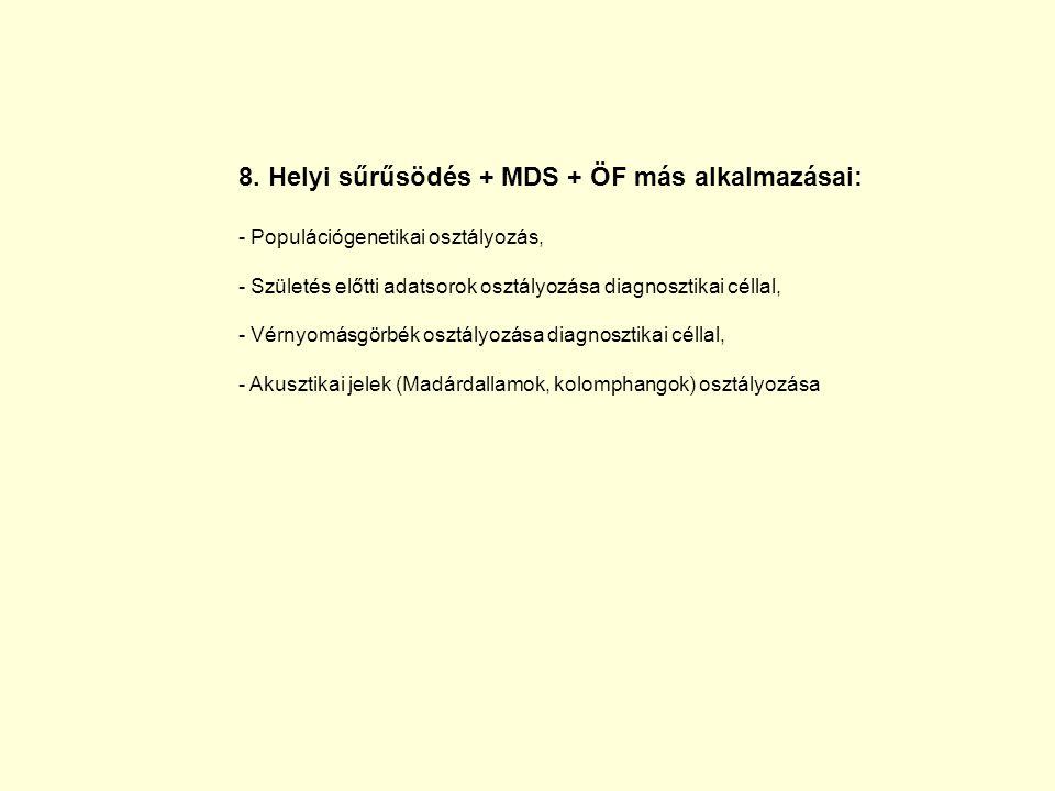 8. Helyi sűrűsödés + MDS + ÖF más alkalmazásai: