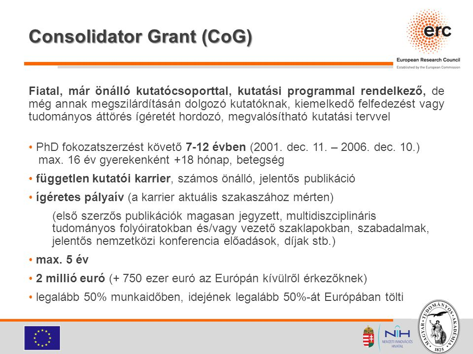 Consolidator Grant (CoG)