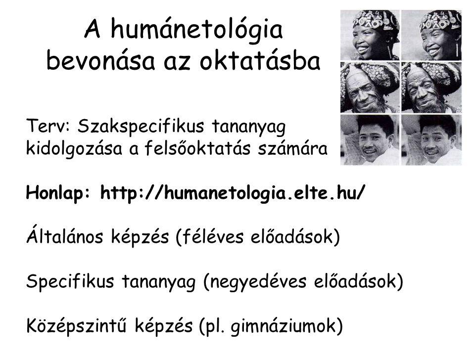 A humánetológia bevonása az oktatásba
