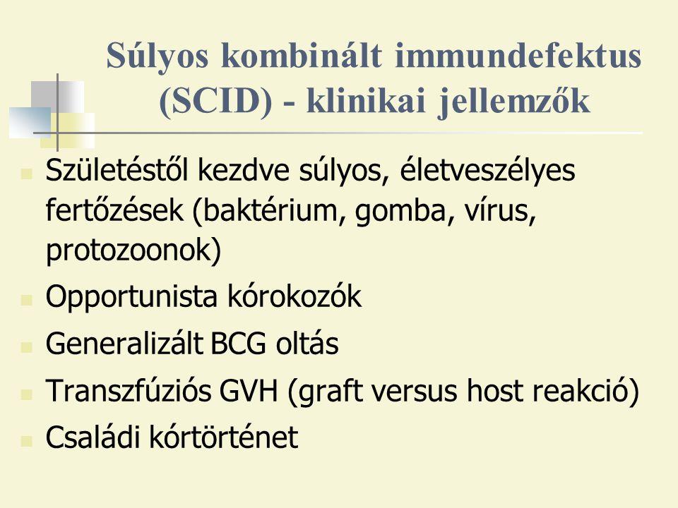 Súlyos kombinált immundefektus (SCID) - klinikai jellemzők