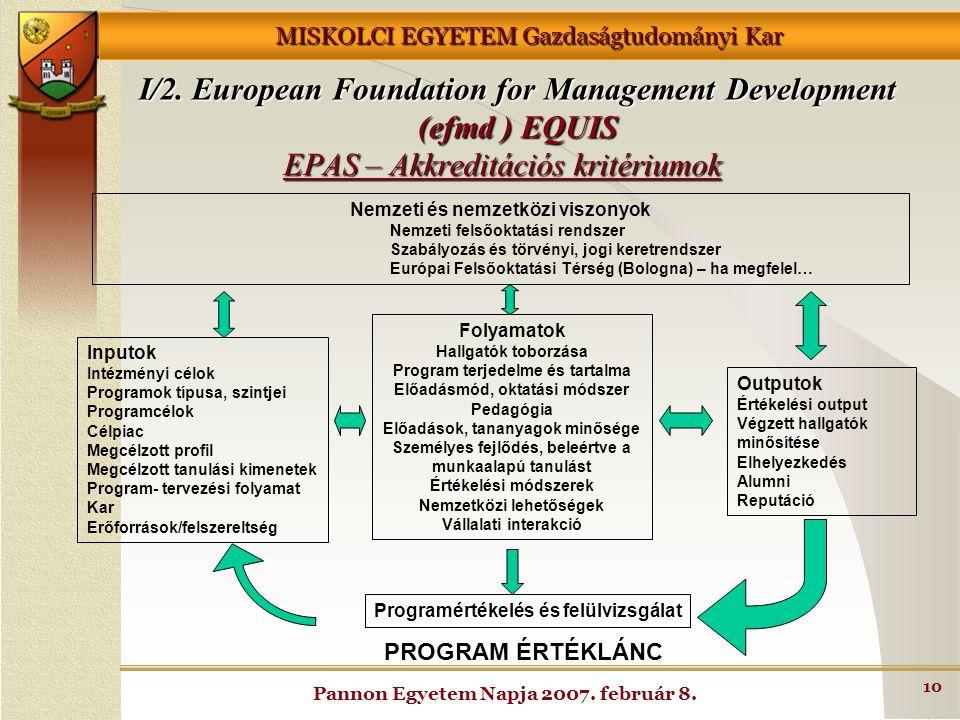 EPAS – Akkreditációs kritériumok