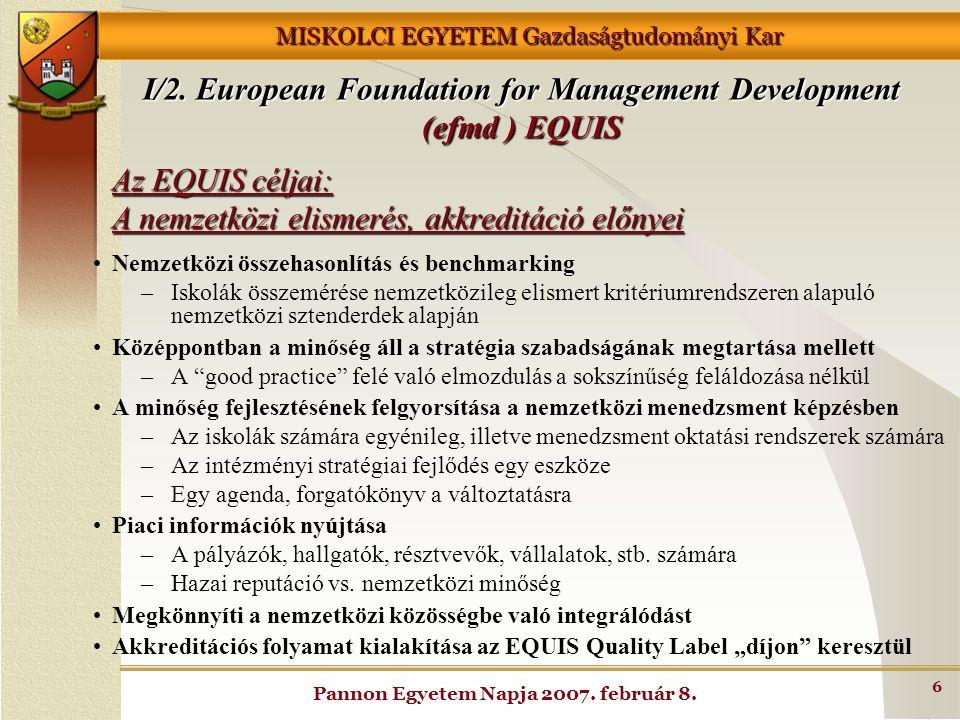 Az EQUIS céljai: A nemzetközi elismerés, akkreditáció előnyei