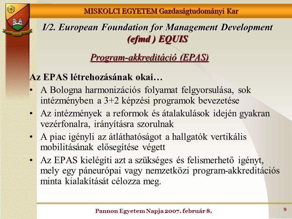 Program-akkreditáció (EPAS)