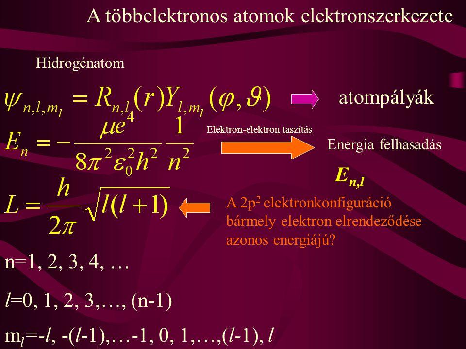 A többelektronos atomok elektronszerkezete