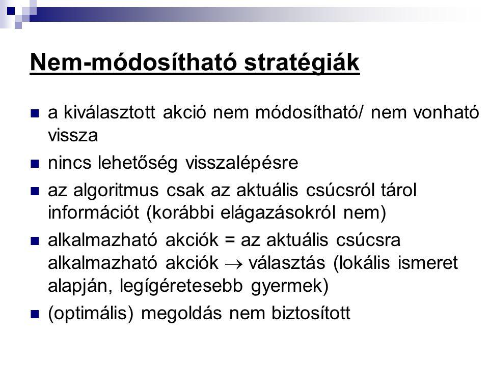 Nem-módosítható stratégiák
