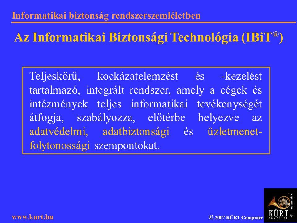 Az Informatikai Biztonsági Technológia (IBiT®)