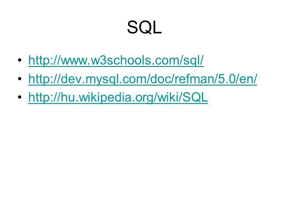 SQL http://www.w3schools.com/sql/