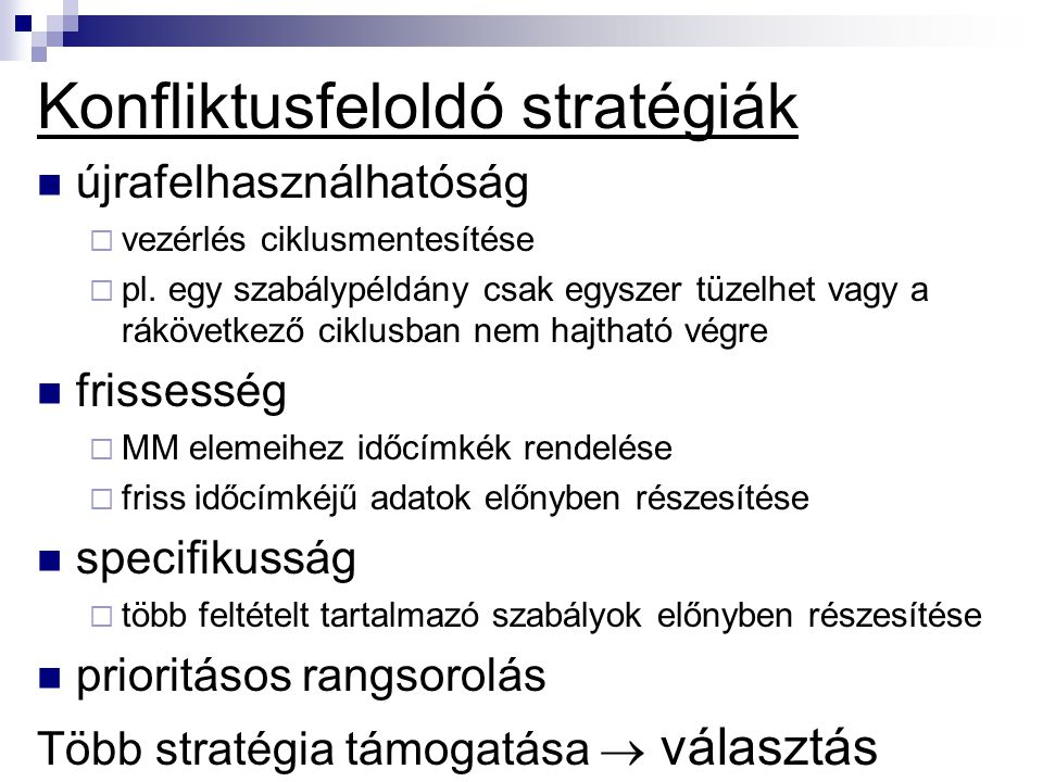 Konfliktusfeloldó stratégiák