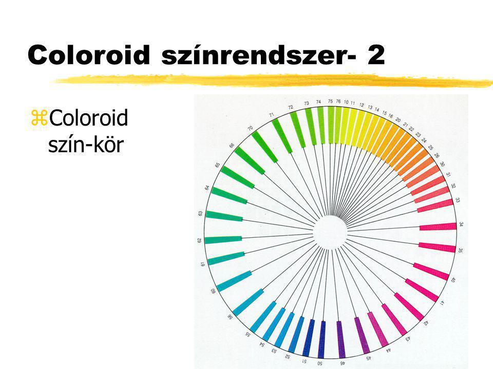 Coloroid színrendszer- 2