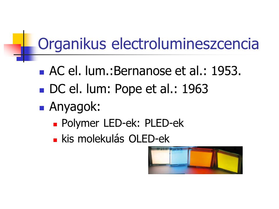 Organikus electrolumineszcencia
