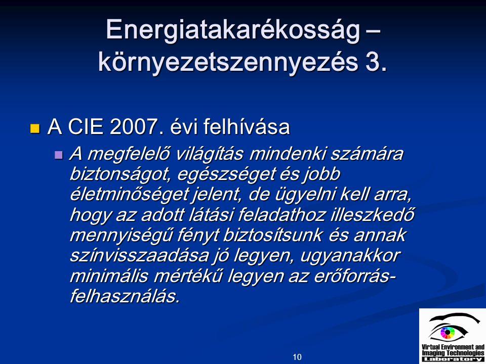 Energiatakarékosság – környezetszennyezés 3.