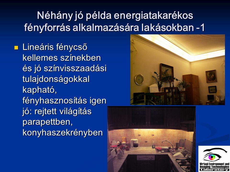 Néhány jó példa energiatakarékos fényforrás alkalmazására lakásokban -1