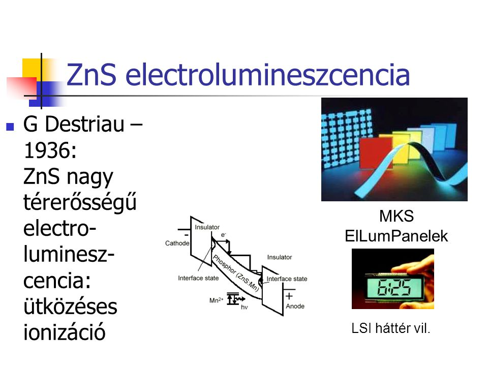 ZnS electrolumineszcencia