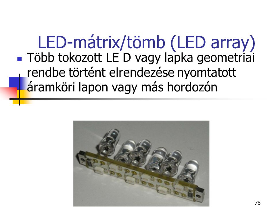 LED-mátrix/tömb (LED array)