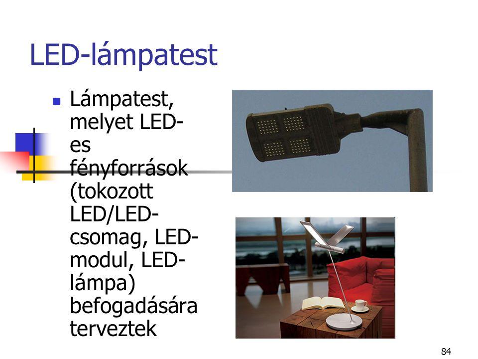 LED-lámpatest Lámpatest, melyet LED-es fényforrások (tokozott LED/LED-csomag, LED-modul, LED-lámpa) befogadására terveztek.