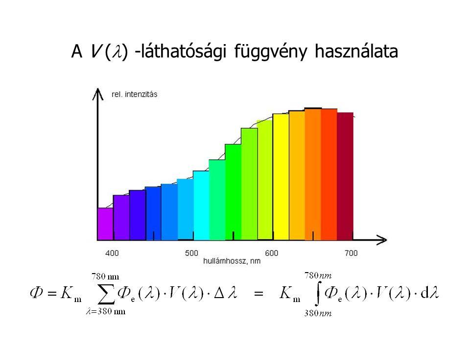 A V (l) -láthatósági függvény használata