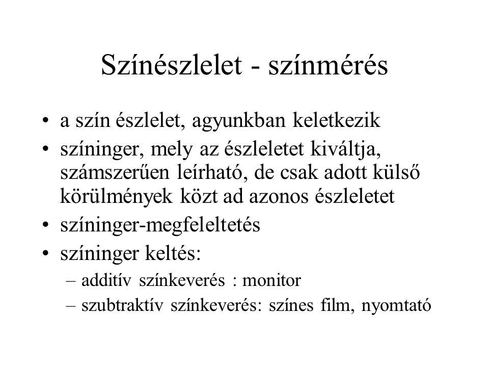 Színészlelet - színmérés