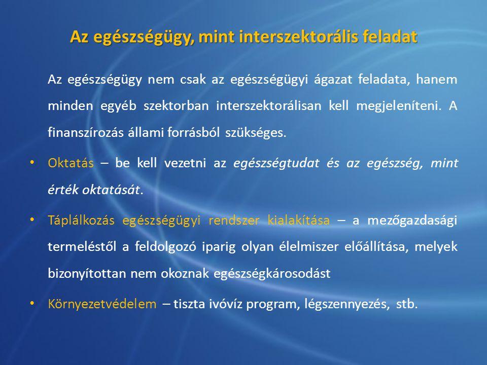 Az egészségügy, mint interszektorális feladat