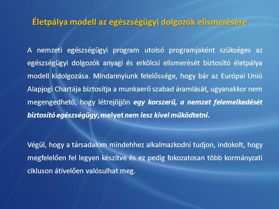 Életpálya modell az egészségügyi dolgozók elismerésére