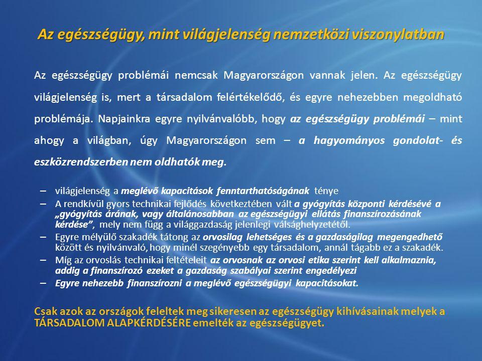 Az egészségügy, mint világjelenség nemzetközi viszonylatban