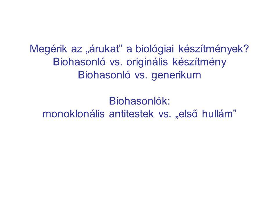 """Megérik az """"árukat a biológiai készítmények. Biohasonló vs"""