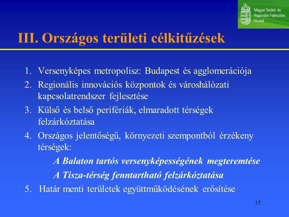 III. Országos területi célkitűzések