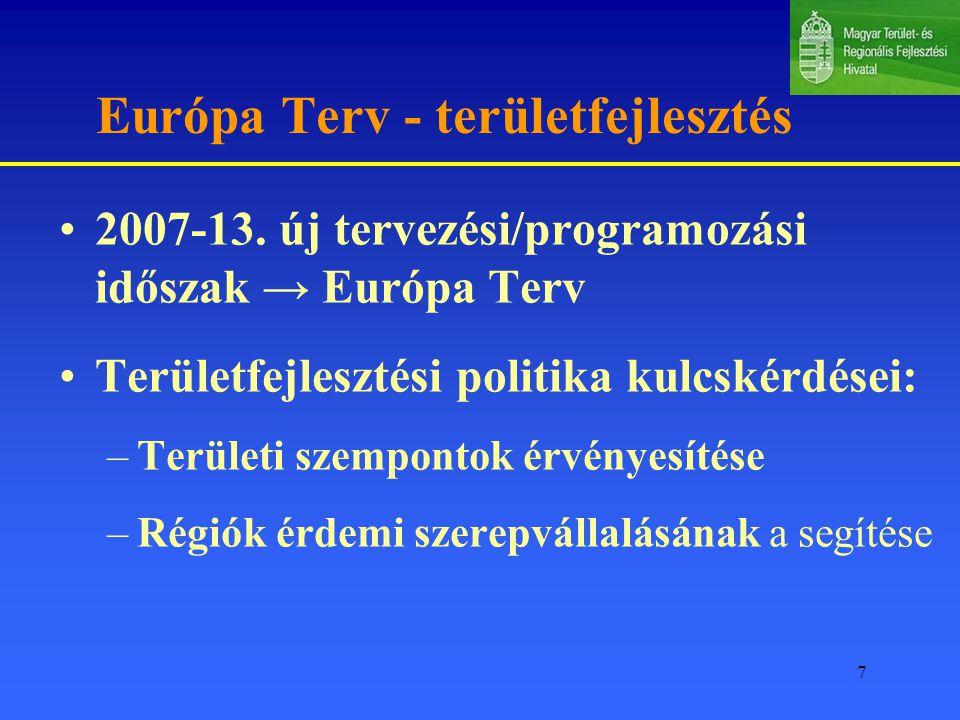 Európa Terv - területfejlesztés