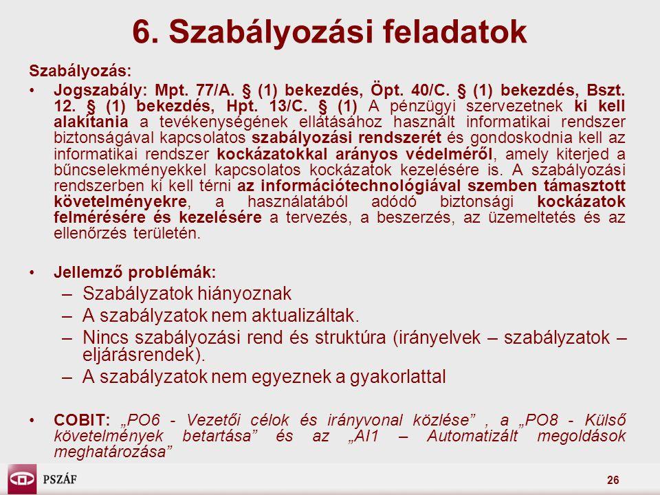 6. Szabályozási feladatok