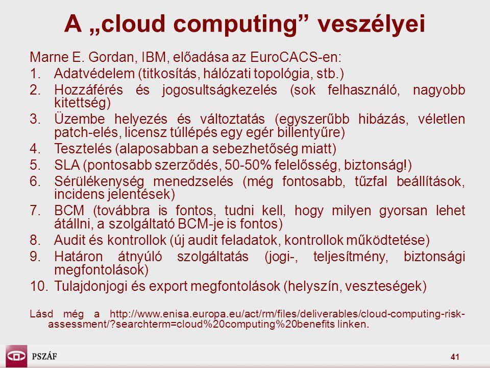 "A ""cloud computing veszélyei"