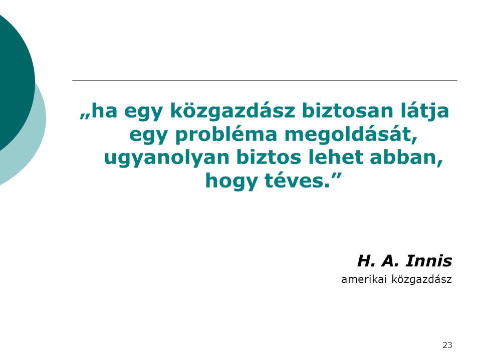 """""""ha egy közgazdász biztosan látja egy probléma megoldását, ugyanolyan biztos lehet abban, hogy téves."""