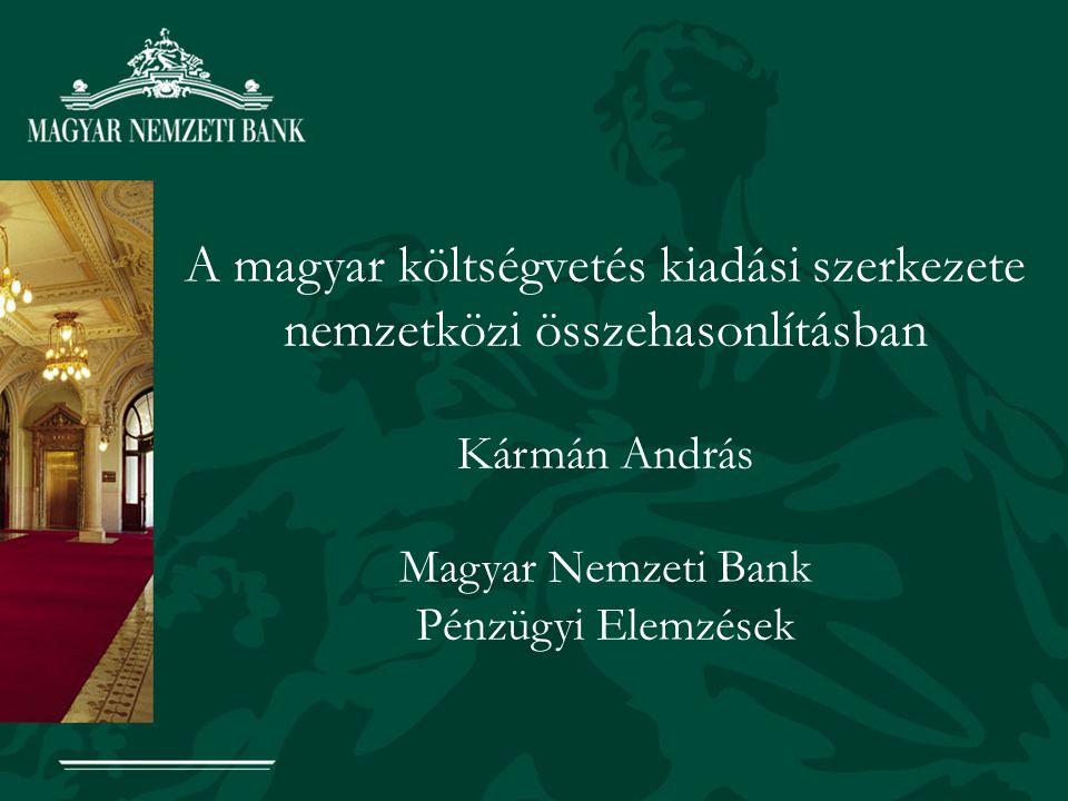 A magyar költségvetés kiadási szerkezete nemzetközi összehasonlításban